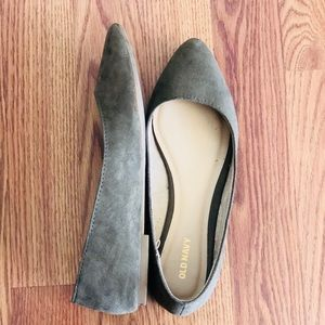 Old Navy | Olive Green Pointed Toe Flats